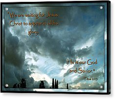 Believers Creed Acrylic Print by Glenn McCarthy Art and Photography