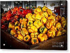 Bell Peppers Acrylic Print by Robert Bales