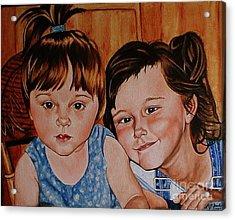 Bella And Claudia Acrylic Print