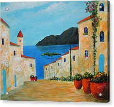 Acrylic Print featuring the painting Bella Italia by Larry Cirigliano