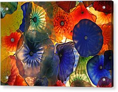 Bellagio Crystal Celing Lights Acrylic Print