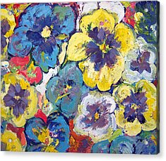 Bellagio Pansies Acrylic Print by Patricia Taylor