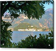 Bellagio Thru The Trees Acrylic Print by Marilyn Dunlap
