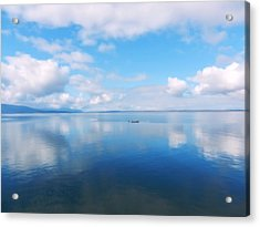 Acrylic Print featuring the photograph Bellingham Bay In Blue by Karen Molenaar Terrell