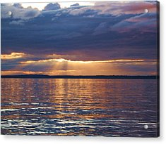 Acrylic Print featuring the photograph Bellingham Bay by Karen Molenaar Terrell