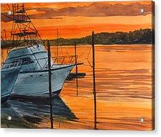 Belmar Marina Acrylic Print by Pete Maier
