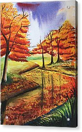 Beloved Autumn Acrylic Print by Shakhenabat Kasana