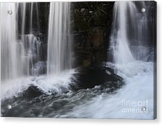 Below The Falls Acrylic Print by Bob Christopher