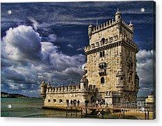 Belum Tower In Lisbon Portugal Acrylic Print by David Smith
