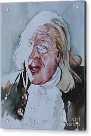 Ben Franklin Of Philadelphia Acrylic Print by Peg Ott Mcguckin