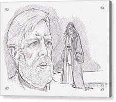 Ben Obi Wan Kenobi Acrylic Print by Chris  DelVecchio