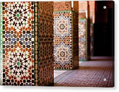 Ben Youssef Medersa Acrylic Print by Kelly Cheng Travel Photography