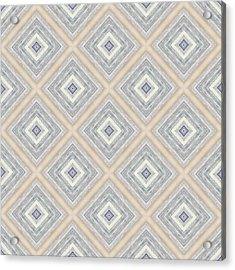 Bench And Wall Pattern Pastel Hues Acrylic Print by Hakon Soreide