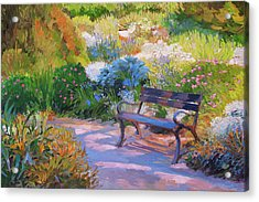 Bench On Margaret Island Acrylic Print
