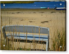 Bench On The Beach Acrylic Print