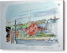 Bench Street Galena Illinois Acrylic Print