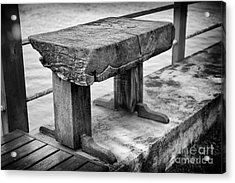 Acrylic Print featuring the photograph Bench by Thanh Tran