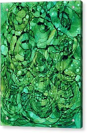 Beneath The Emerald City Acrylic Print by Christine Crawford