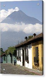 Acrylic Print featuring the photograph Beneath The Volcano Antigua Guatemala by John  Mitchell