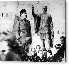 Benito Mussolini, 1943 Acrylic Print by Everett