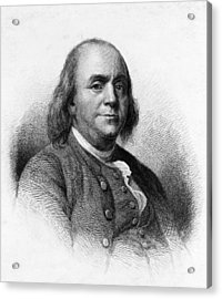 Acrylic Print featuring the photograph Benjamin Franklin by International  Images