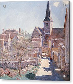 Bennecourt Acrylic Print by Claude Monet