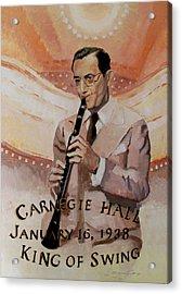 Benny Goodman Portrait Acrylic Print