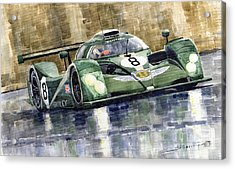 Bentley Prototype Exp Speed 8 Le Mans Racer Car 2001 Acrylic Print by Yuriy  Shevchuk