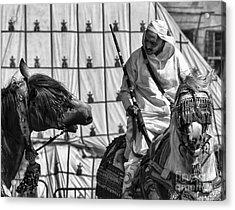 Berber Bw Acrylic Print by Chuck Kuhn