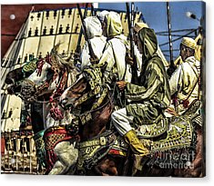Berber Soldiers Acrylic Print by Chuck Kuhn