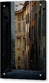 Bergamo Alley Acrylic Print by Perry Van Munster