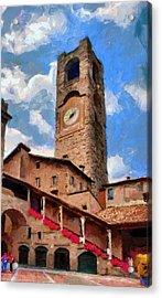 Bergamo Bell Tower Acrylic Print by Jeff Kolker