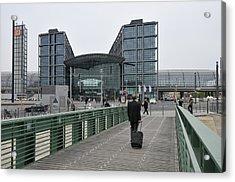 Berlin Hauptbahnhof Main Train Station Acrylic Print by Matthias Hauser