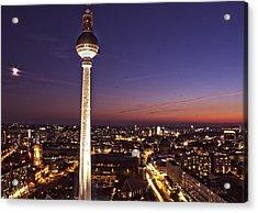 Berlin Tv Tower Acrylic Print by Bianca Baker