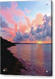 Acrylic Print featuring the digital art Bermuda Sunset by Richard Stevens