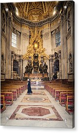 Bernini Masterpiece Acrylic Print by Joan Carroll