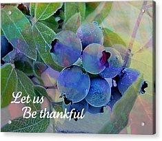 Berry Beautiful Acrylic Print by Shirley Sirois