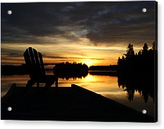 Berry Lake Sunrise Acrylic Print by Steven Clipperton