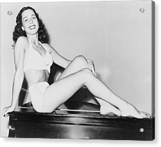 Bess Myerson B. 1924, As Miss New York Acrylic Print by Everett