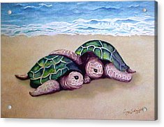 Acrylic Print featuring the painting Best Friends Forever by Ginny Schmidt