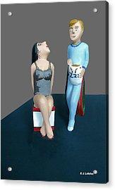 Betty Awaits For The Sandman's Nightly Visit Acrylic Print
