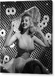 Betty Grable, 1938 Acrylic Print by Everett