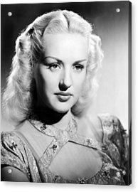Betty Grable, 1947 Acrylic Print by Everett