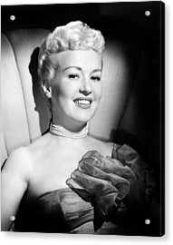 Betty Grable, 20th Century-fox, Late Acrylic Print by Everett