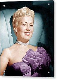 Betty Grable, Ca. 1950s Acrylic Print by Everett