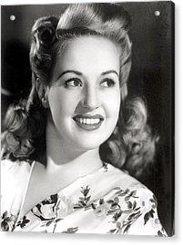Betty Grable, Circa 1940s Acrylic Print by Everett