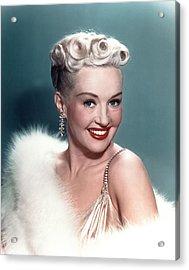 Betty Grable Acrylic Print by Everett