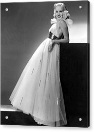 Betty Grable, Paramount Pictures, 1937 Acrylic Print by Everett