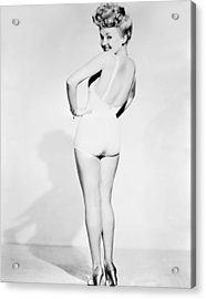 Betty Grable, World War II Pin-up Acrylic Print by Everett