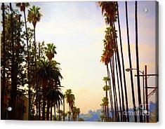 Beverly Hills In La Acrylic Print by Susanne Van Hulst